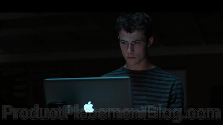 Dylan Minnette as Clay Jensen Using Apple MacBook Laptop in 13 Reasons Why S04E02 TV Show (2)