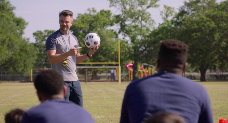 Franklin Sports Soccer Ball Held by Josh Duhamel as Lukas in Think Like a Dog Movie (2)