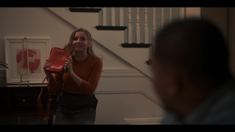 Goyard Handbag Held by Bebe Wood as Lake in Love, Victor S01E04 TV Show (1)