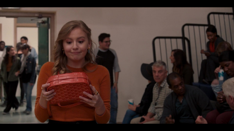 Goyard Handbag Held by Bebe Wood as Lake in Love, Victor S01E04 TV Show (2)