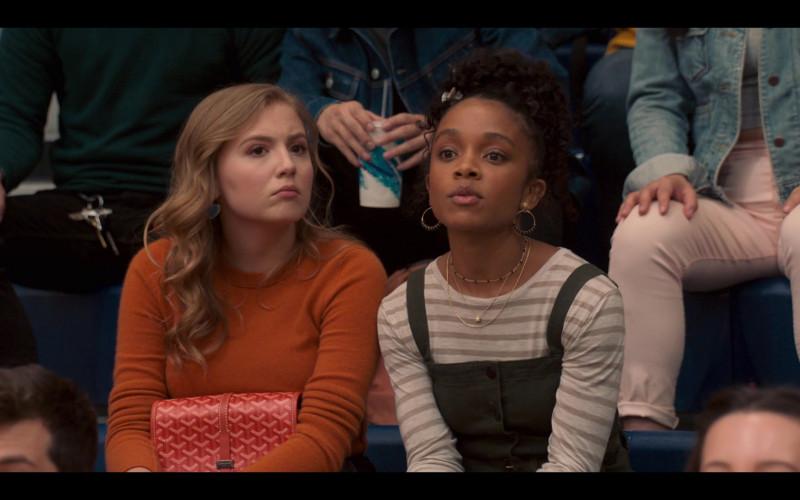 Goyard Handbag Held by Bebe Wood as Lake in Love, Victor S01E04 TV Show (4)