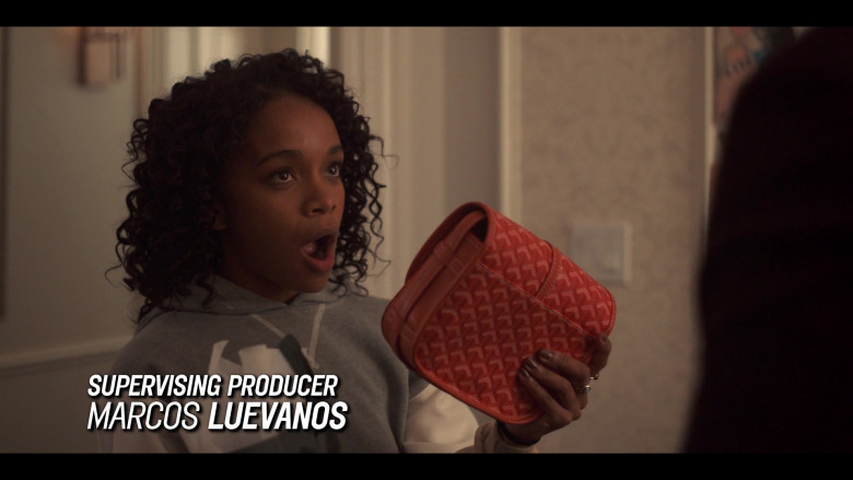 Goyard Handbag of Rachel Naomi Hilson as Mia Brooks in Love, Victor S01E04 (1)
