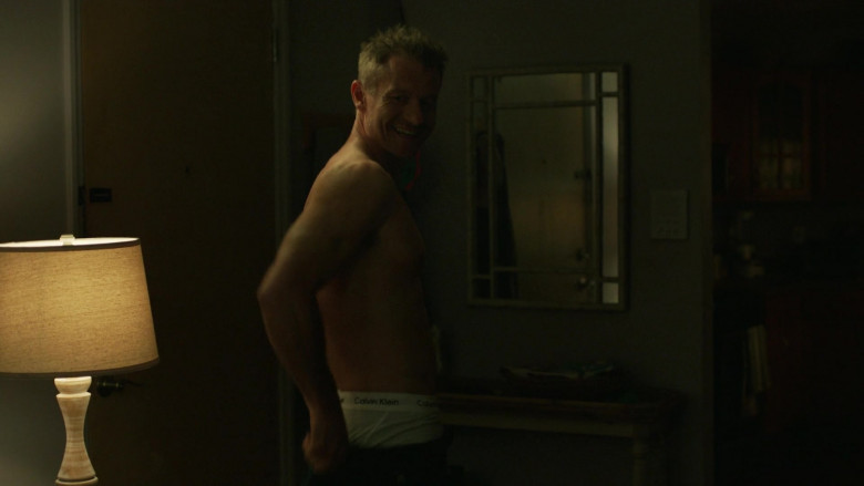 James Badge Dale as Det. Ray Abruzzo Wears Calvin Klein White Underwear in Hightown S01E04 TV Show