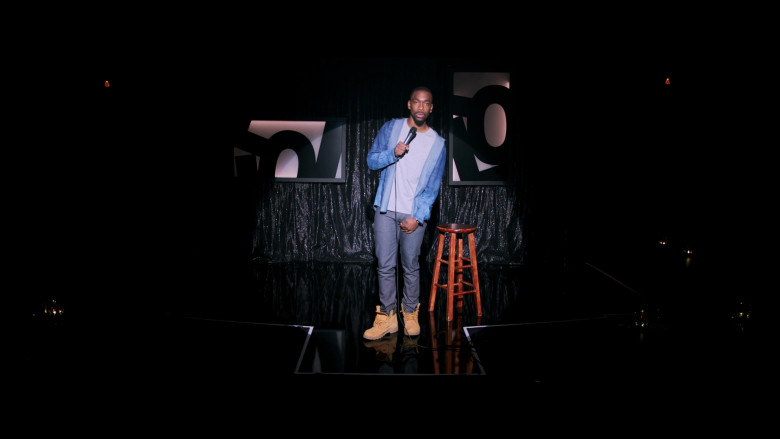 Jay Pharoah Wears Timberland Boots in 2 Minutes of Fame 2020 Movie (2)