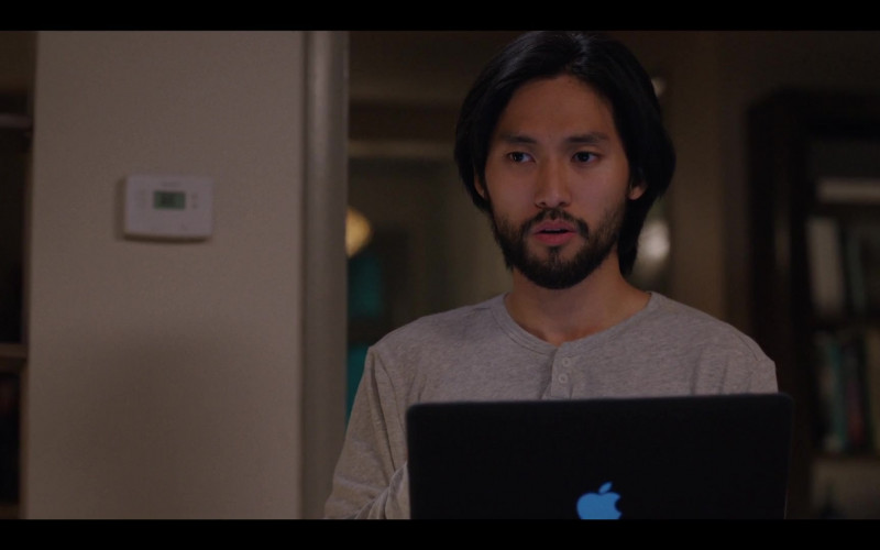 Jin Ha as Augie Using Apple MacBook Laptop in Love Life S01E10 TV Show (2)