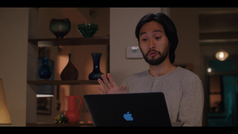 Jin Ha as Augie Using Apple MacBook Laptop in Love Life S01E10 TV Show (3)