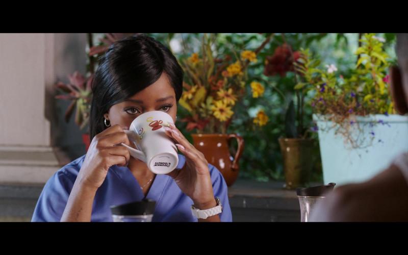 Keke Palmer Holding Dunkin' Donuts Mug in 2 Minutes of Fame (2020) Movie