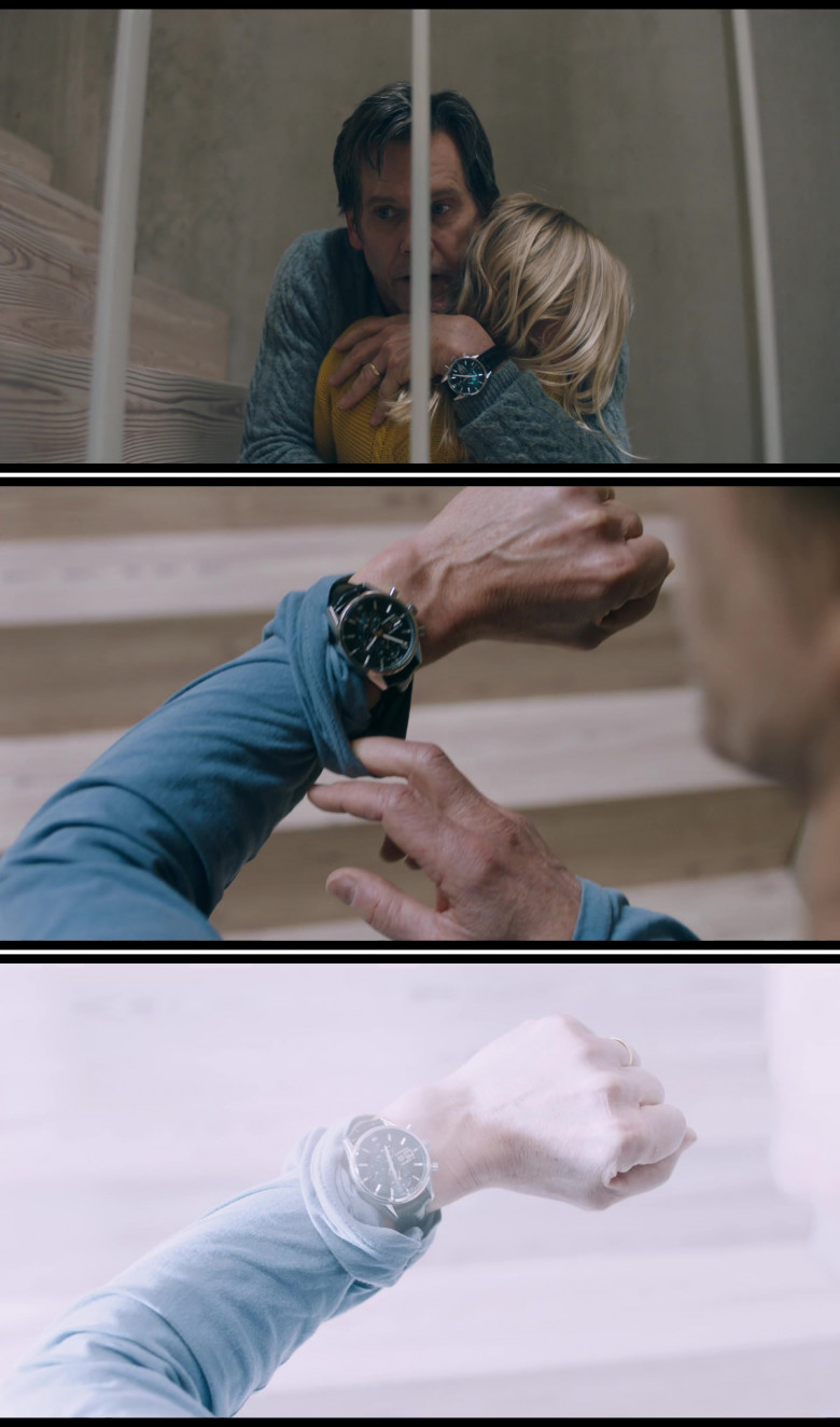 Kevin Bacon Wears Tag Heuer Calibre 16 Men's Wrist Watch in You Should Have Left 2020 Film (2)