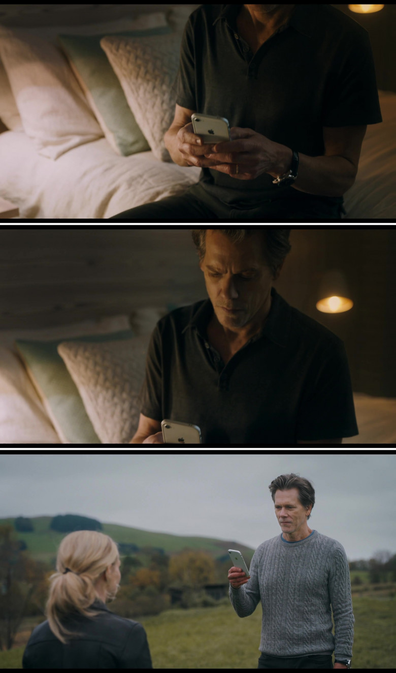 Kevin Bacon as Theo Conroy Using Apple iPhone Smartphone in You Should Have Left Movie