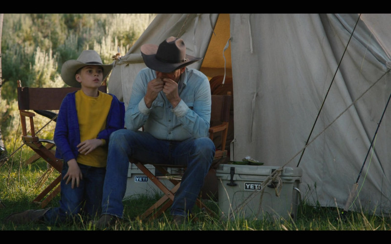 Kevin Costner as John Dutton Using Yeti Coolers in Yellowstone Season 3 Episode 2