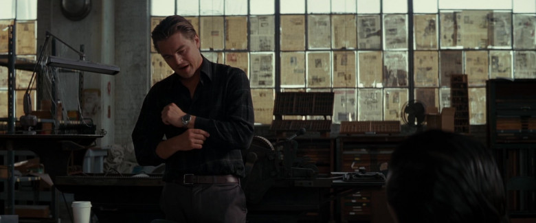 Leonardo DiCaprio as Cobb Wears TAG Heuer Carrera Automatic Men's Wrist Watch in Inception Movie (5)