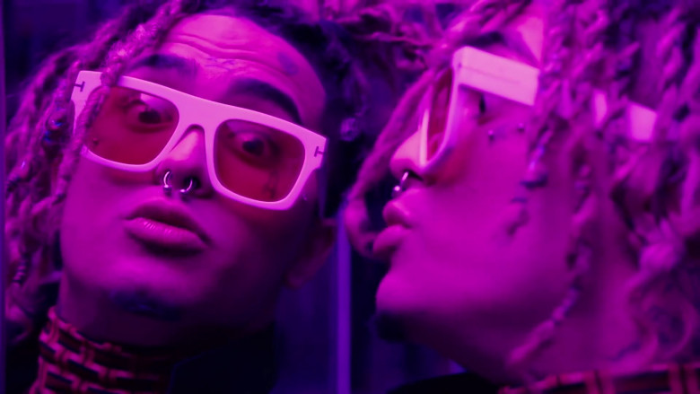 Lil Pump Wearing Tom Ford White Frame Sunglasses in Be Like Me Official Music Video (3)
