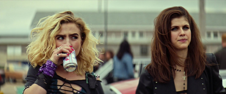Maddie Hasson Drinking Pabst Blue Ribbon Beer in We Summon the Darkness Movie