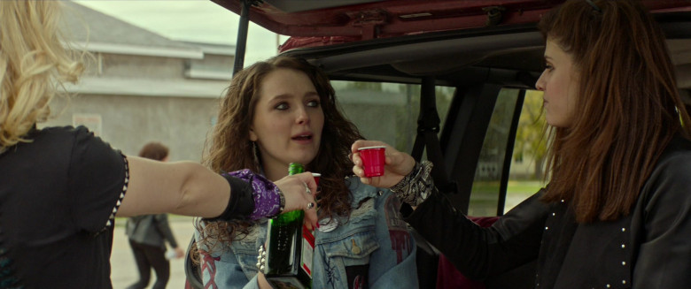 Maddie Hasson Enjoying Jägermeister Liquor in We Summon the Darkness Movie (2)