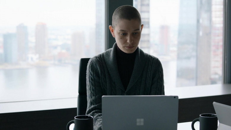 Microsoft Surface Laptop Used by Asia Kate Dillon as Taylor Mason in Billions S05E07