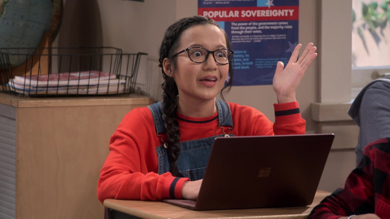 Microsoft Surface Notebook Used by Gloria Aung as Grace in Mr. Iglesias S02E02