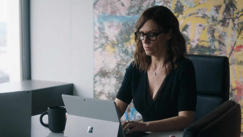 Microsoft Surface Tablet Used by Maggie Siff as Wendy Rhoades in Billions S05E07 (1)