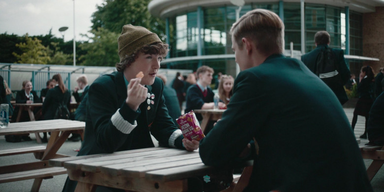 Morrisons Bacon Rasher Snacks Enjoyed by Brenock O'Connor as Tom in Alex Rider S01E02 (3)
