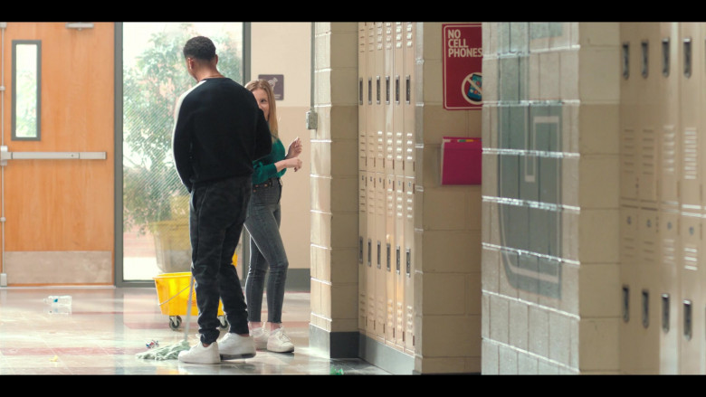 Nike Air Force 1 All-White Sneakers Worn by Mason Gooding as Andrew in Love, Victor S01E08 (1)