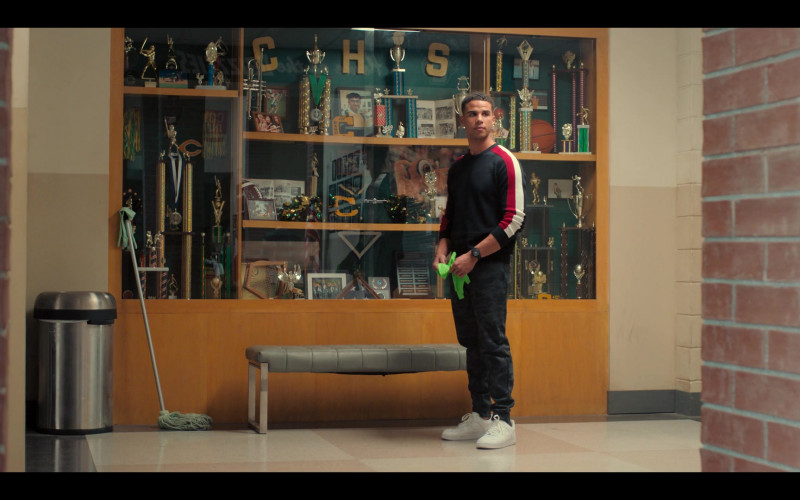 Nike Air Force 1 All-White Sneakers Worn by Mason Gooding as Andrew in Love, Victor S01E08 (3)