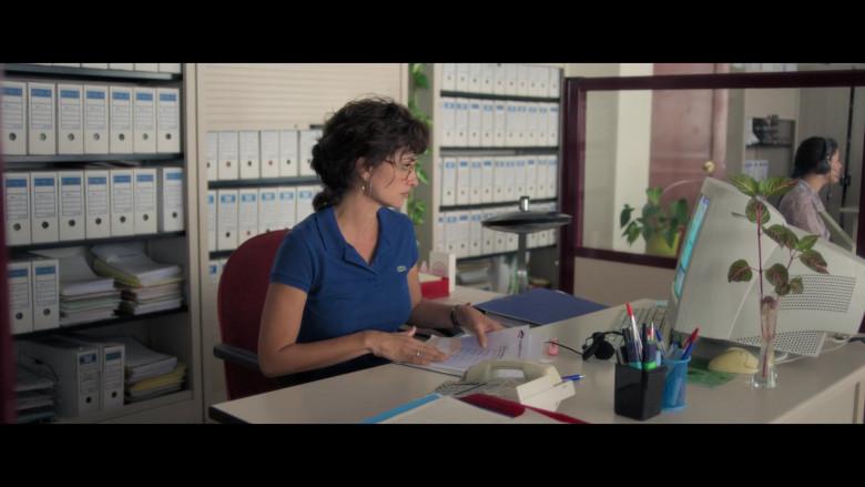 Penélope Cruz as Olga Gonzalez Wears Lacoste Women's Blue Polo Shirt in Wasp Network 2020 Film (1)