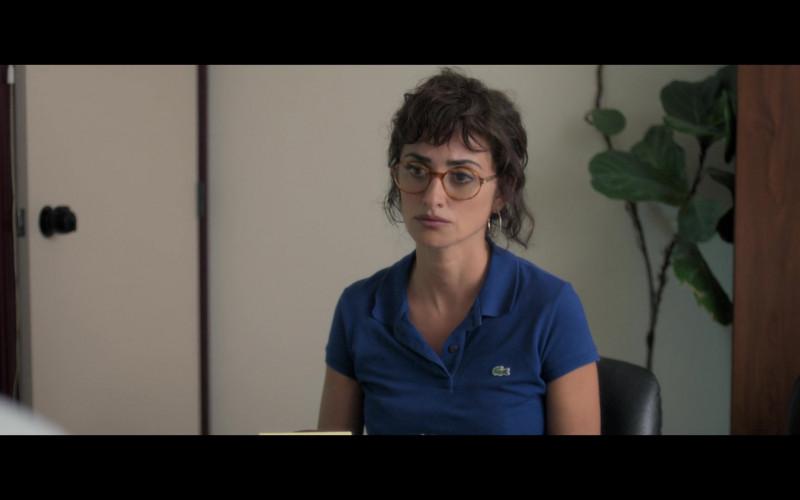 Penélope Cruz as Olga Gonzalez Wears Lacoste Women's Blue Polo Shirt in Wasp Network 2020 Film (3)