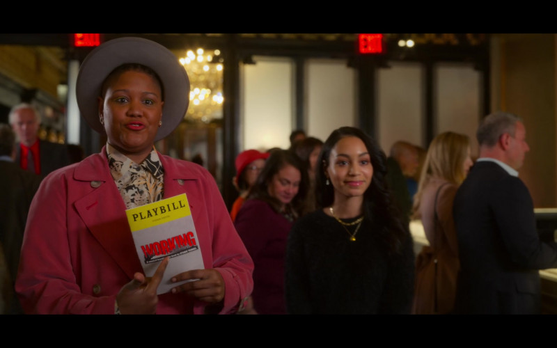 Playbill Magazine Held by Rahne Jones as Skye Leighton in The Politician S02E02