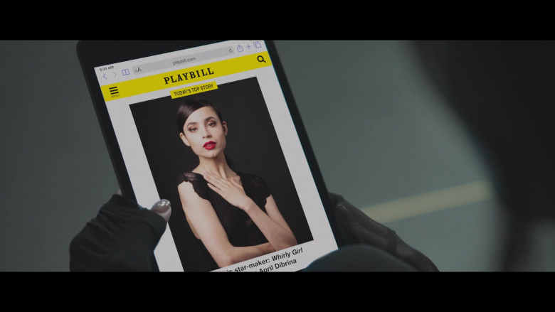 Playbill Website in Feel the Beat (2020)