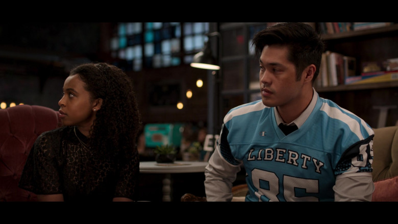 Ross Butler as Zach Wearing Champion Jersey Outfit in 13 Reasons Why S04E10 TV Series (2)