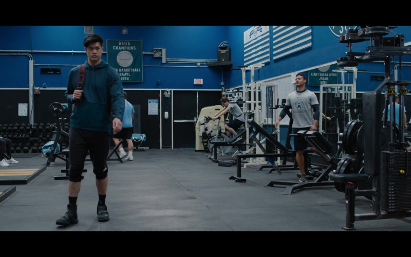 Ross Butler as Zach Wearing Hoodie, Black Shoes and Adidas Shorts Outfit in 13 Reasons Why S04E07 TV Show