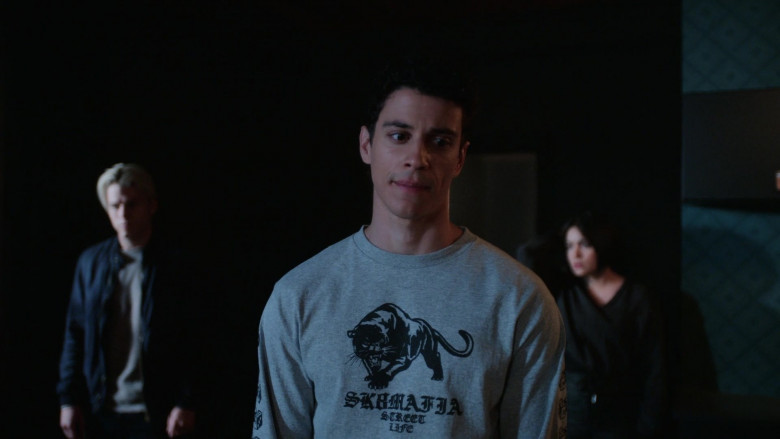 SK8MAFIA Sweatshirt Worn by Adam DiMarco as Randall Carpio in The Order S02E03 (2)