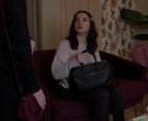 Saint Laurent Grained Leather Business Bag of Katie Stevens ...