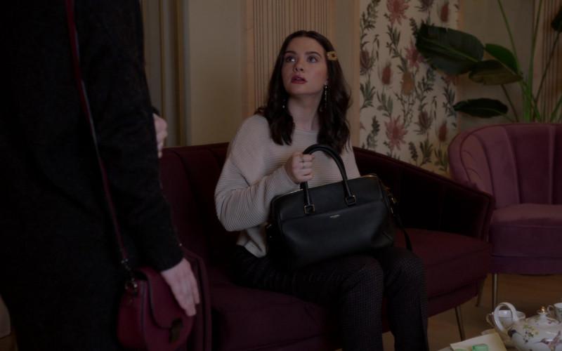 Saint Laurent Grained Leather Business Bag of Katie Stevens