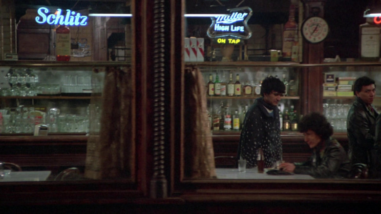 Schlitz and Miller High Life Beer Signs in Once Upon a Time in America (1984)
