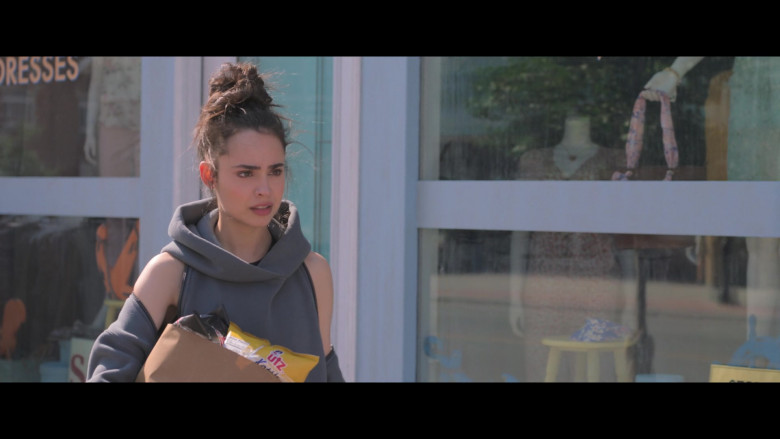 Sofia Carson Holding UTZ Snacks in Feel the Beat Netflix Movie 2020 (1)