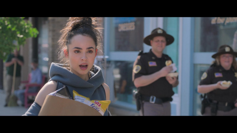 Sofia Carson Holding UTZ Snacks in Feel the Beat Netflix Movie 2020 (2)