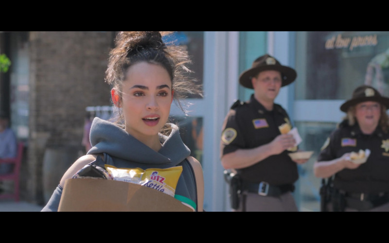 Sofia Carson Holding UTZ Snacks in Feel the Beat Netflix Movie 2020 (3)