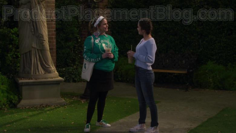 Soni Nicole Bringas as Ramona Wearing Vans Sk8-Hi Reissue Checkerboard Skate Shoes in Fuller House S05E13