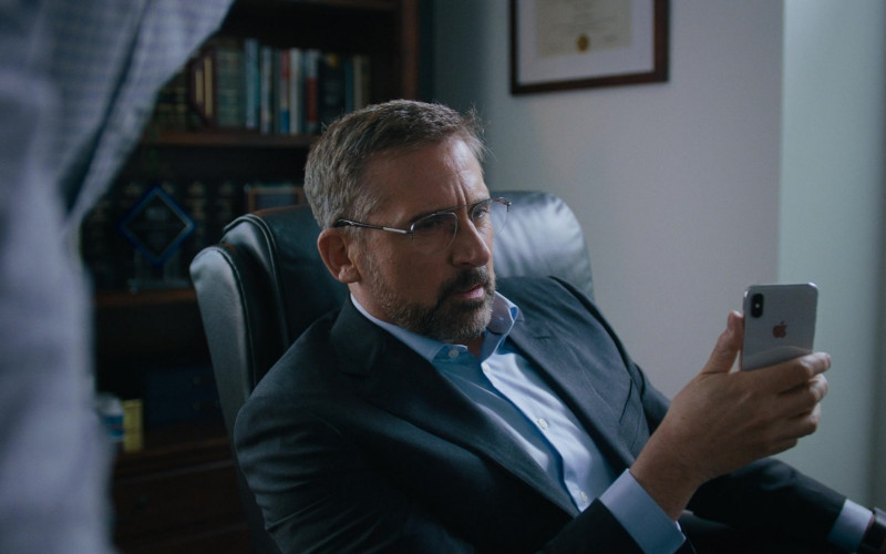 Steve Carell Using Apple iPhone Smartphone in Irresistible Movie (1)