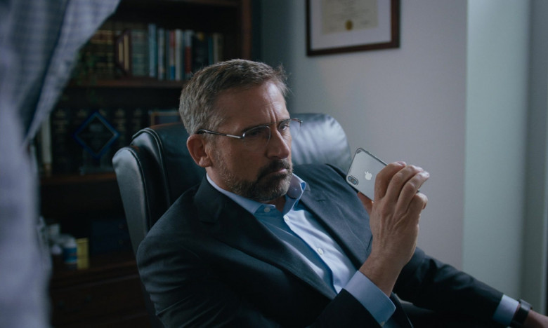 Steve Carell Using Apple iPhone Smartphone in Irresistible Movie (2)