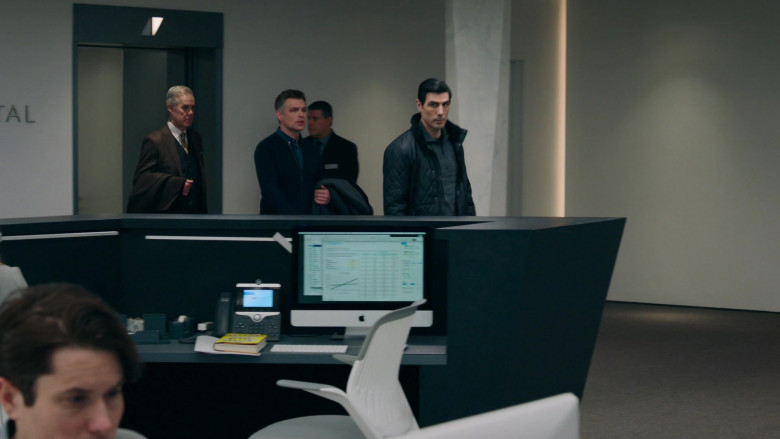TV Show Characters Using Cisco Video Phone and Apple iMac Computer in Billions S05E06 The Nordic Model (2020)