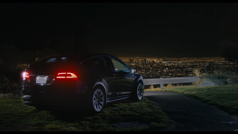Tesla Model X Car At Night in You Should Have Left (2020)
