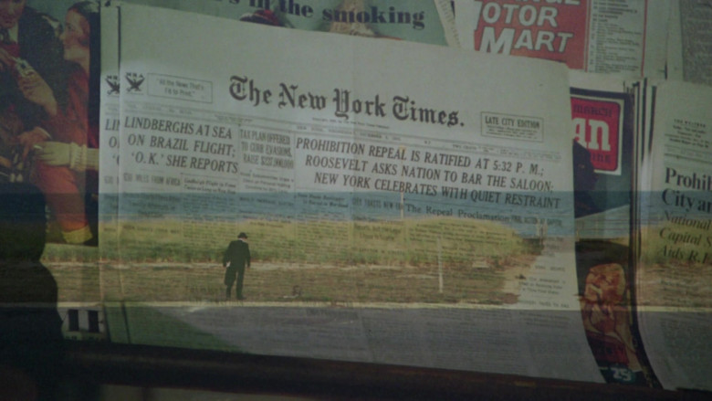The New York Times Newspaper in Once Upon a Time in America (1984)