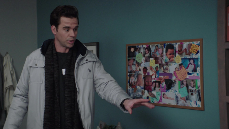 TV Show Actor Wears U.S. Polo Assn. Men's Jacket in Council of Dads S01E08