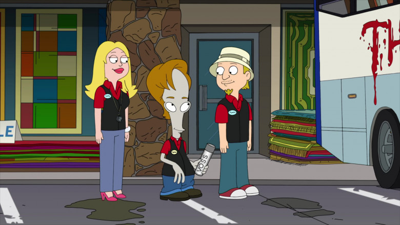 Roger Smith Hold Voss Water Bottle in American Dad! S17E09 Animated TV Show (1)