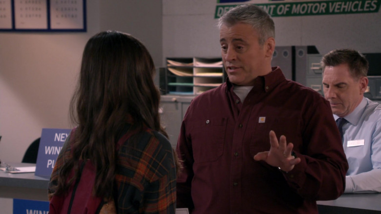 White Tee & Carhartt Long Sleeve Shirt Worn by Matt LeBlanc as Adam in Man with a Plan Season S04E12 TV Show (2)