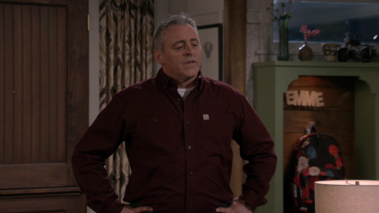 White Tee & Carhartt Long Sleeve Shirt Worn by Matt LeBlanc as Adam in Man with a Plan Season S04E12 TV Show (3)