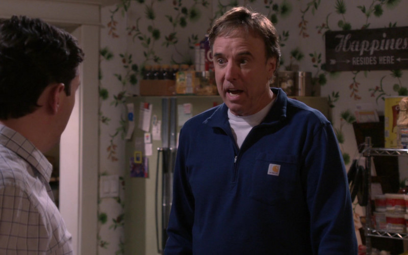 White Tee and Carhartt Blue Shirt Worn by Kevin Nealon as Don in Man with a Plan Season S04E12 Driving Miss Katie (2020)