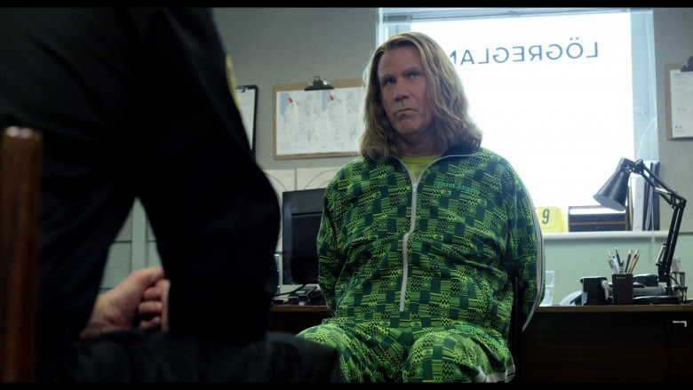 Will Ferrell Wears Palm Angels Green Jacket and Pants Tracksuit Outfit (1)