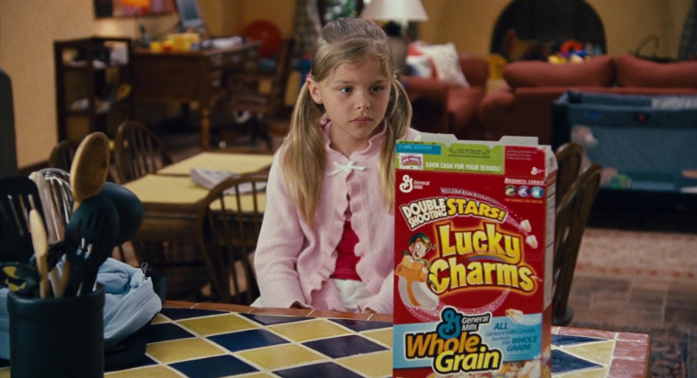 Young Chloë Grace Moretz Enjoying General Mills Lucky Charms Cereal in Big Momma's House 2 Film (1)